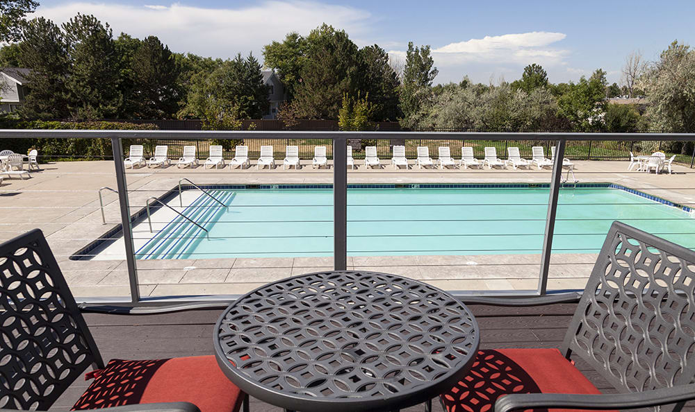 Sparkling Swimming Pool At Our Aurora Colorado Apartment Rentals