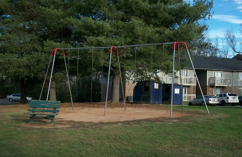 Our resident parents and their children love the on-site playground here at Highland Square.