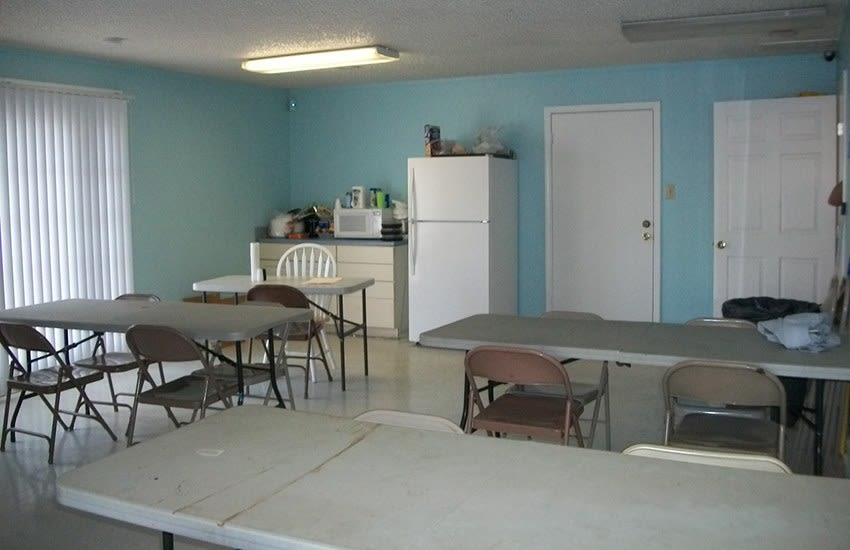 The kitchen in our community room at Highland Square in Greenville, SC, is great when you need to prepare a meal for a large group.