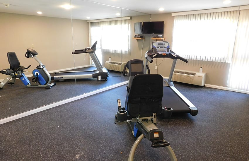 Workout by yourself or with a partner in the on-site fitness center at Siena Village.