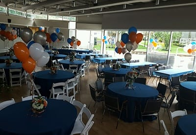 Just before our party celebrating our residents here at Siena Village.