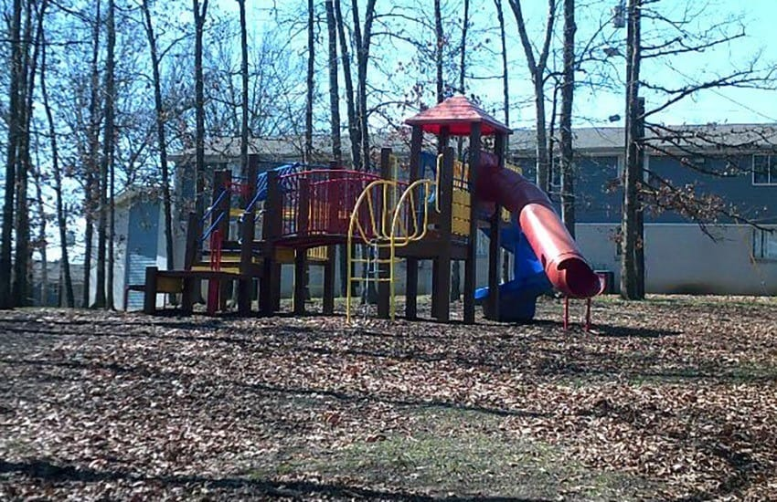 On-site playground at Charter Village Apartments in Madison.