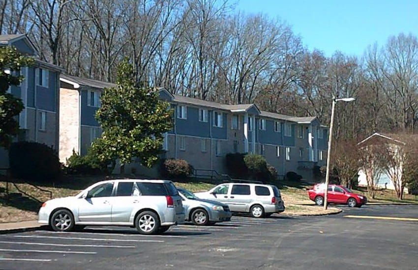 Plenty of parking available to residents and guests of Charter Village Apartments in Madison.