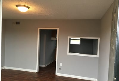 Hardwood floors in some apartments at Village West