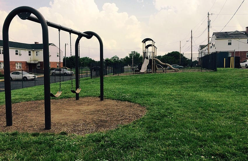 Children love the playground area at Bancroft Apartments in Dayton.