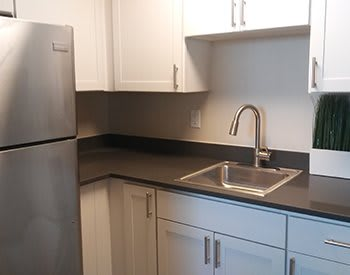 Newly remodeled units at Congress Park Apartments in Denver