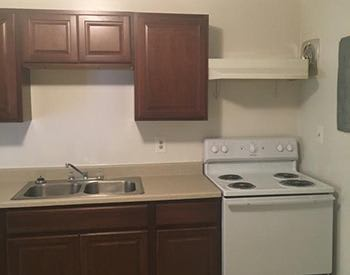 You'll love the modern kitchen in your new affordable apartment at Franklin Court in Louisburg.