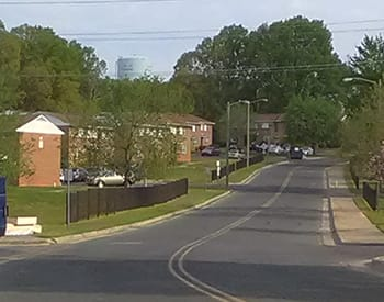 The street view approaching Icemorlee Apartments