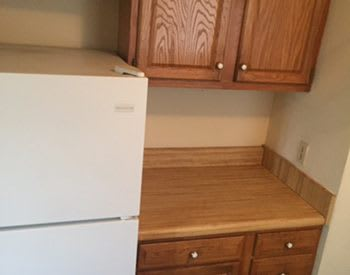 Ceiling fans and modern appliances in all units at Market North Apartments in Wilmington