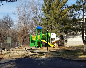 On-site playground at Riverview Bend Apartments in Crystal City