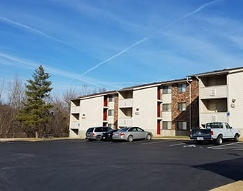 Front view of Riverview Bend Apartments