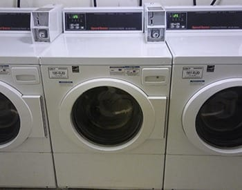 On-site laundry facilities at William Tell Apartments in Denver