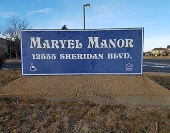 Spacious floor plan options at Maryel Manor Apartments in Broomfield.
