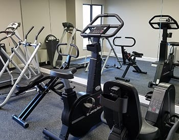 On-site fitness center at Maryel Manor Apartments in Broomfield