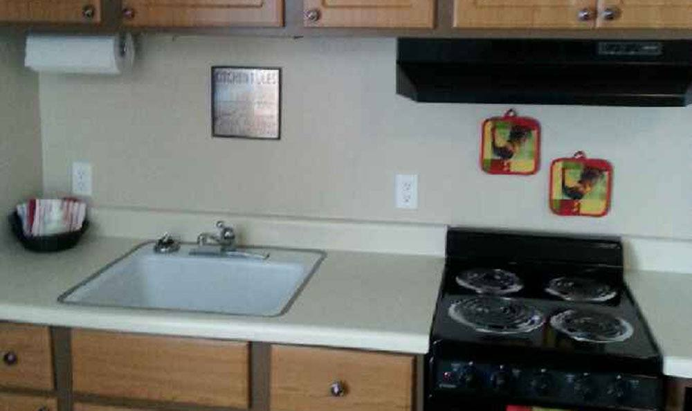 Kitchen At Luther Towers In Memphis