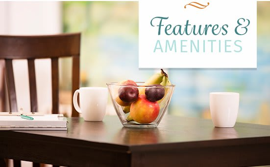 Various amenities offered at apartments in Cincinnati