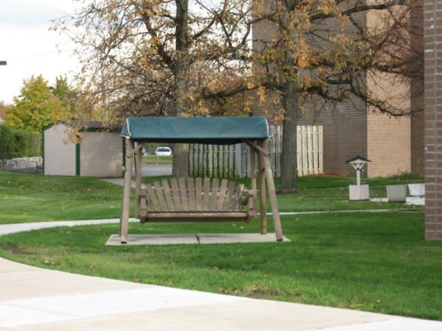 Swinging Chair At Our Rochester Hills Senior Apartments