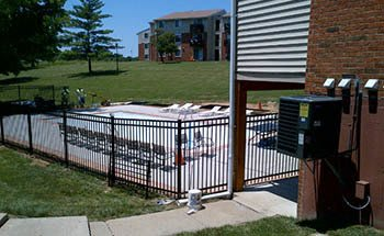 Swimming pool at our fantastic apartment community in St. Charles