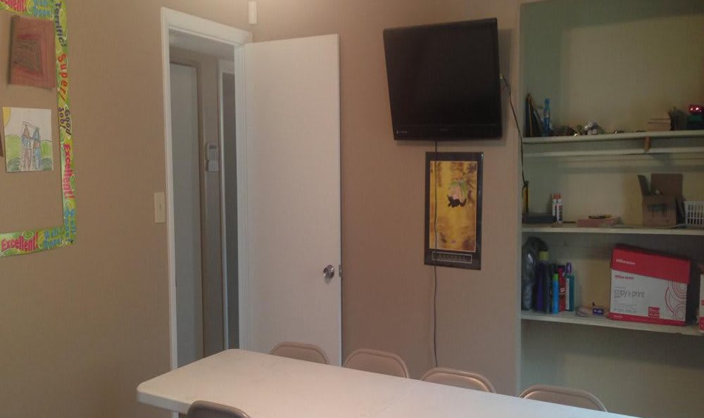 Community room at Hoffman Homes