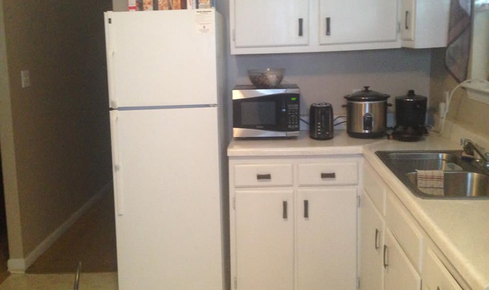 An alternate view of the kitchen at Hoffman Homes