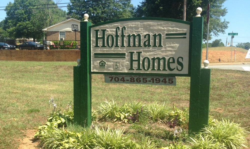 Monument Sign at Hoffman Homes