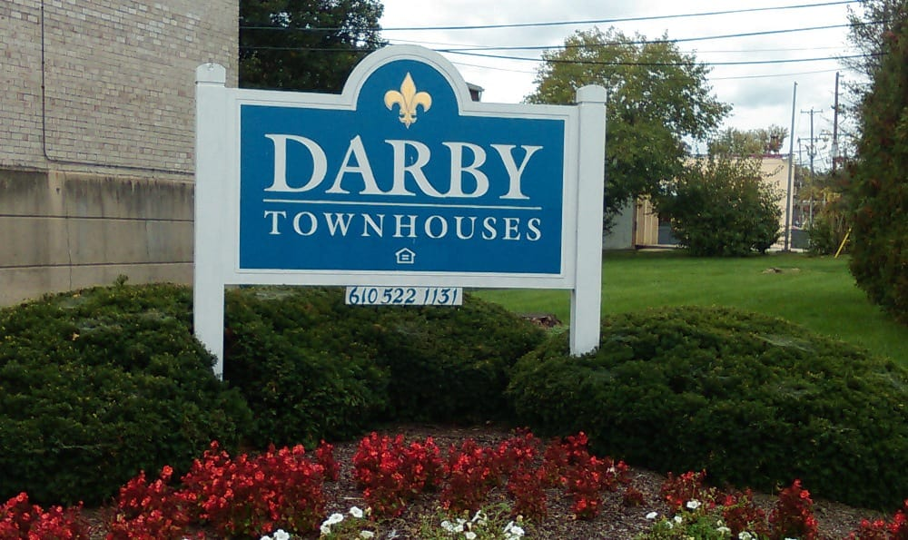 Monument Sign at Darby Townhomes