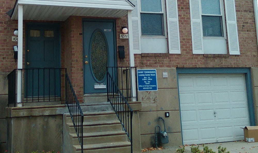 Entrance of Darby Townhomes in Sharon Hill, PA