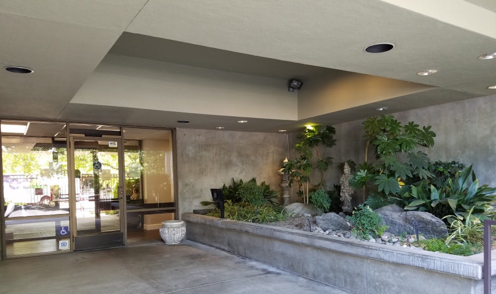 Beautiful Entrance at St. Francis Manor in CA