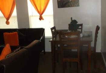 Dining room at Meadow Run Apartments in Anderson