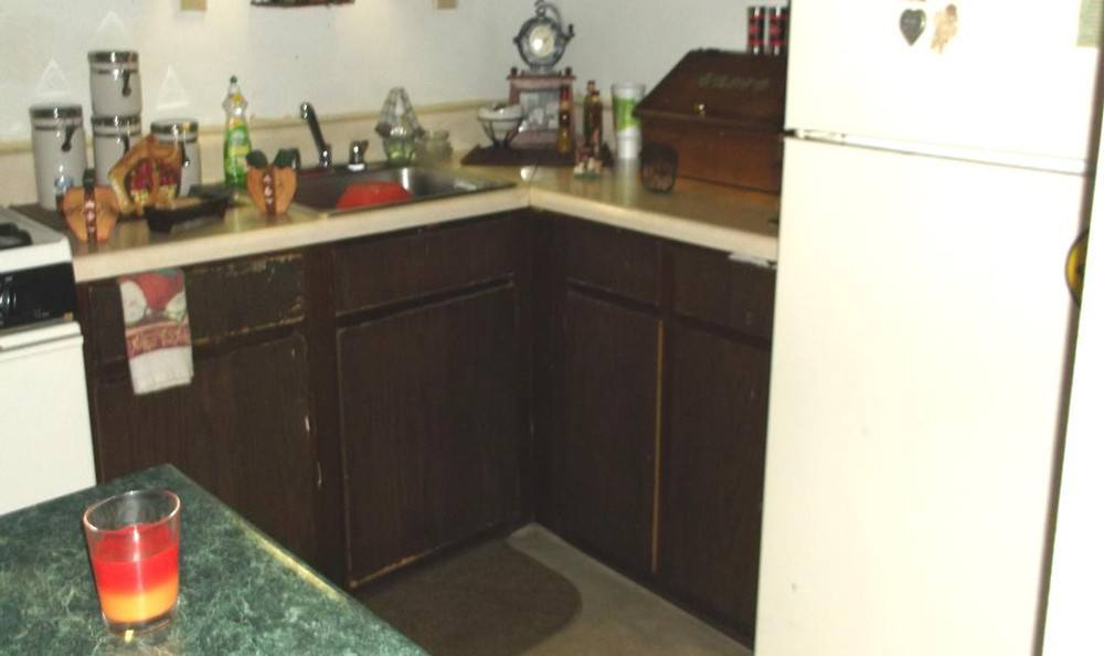 Kitchen at Meadow Run Apartments in Anderson