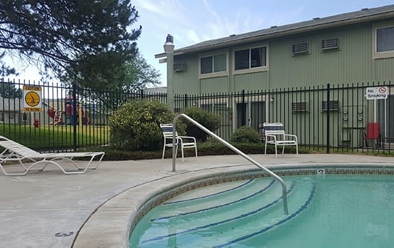 When the weather is hot, there is no better spot than our swimming pool at James Court in Meridian.