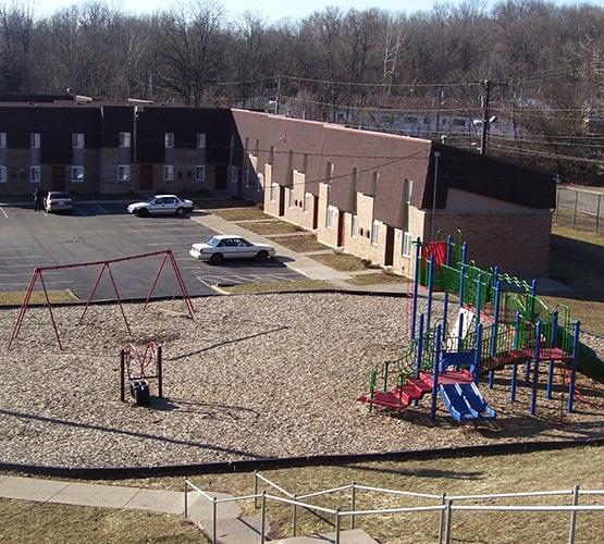 Resident parents and their children love our on-site playground at Eagle Ridge.