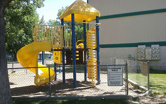 Parents and their children at Day Meadows in Mountain Home love our on-site playground!