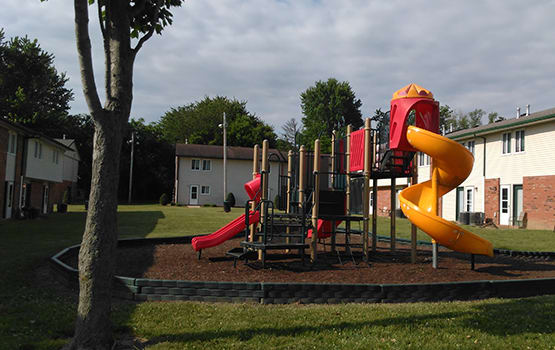 Parents and their children at Norwalk North love our on-site playground!