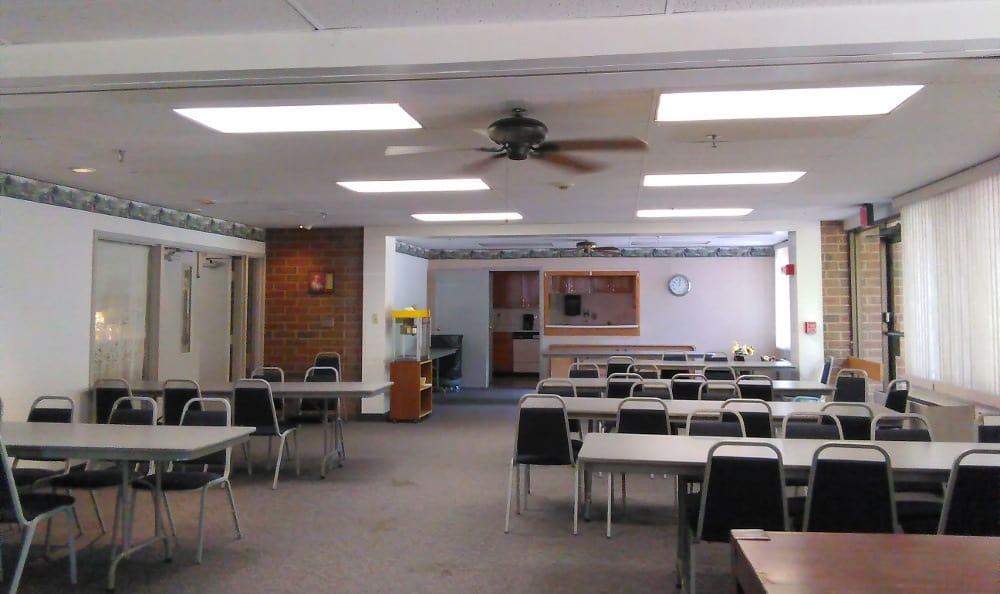 Open community room at Tamarack in MI , Holt