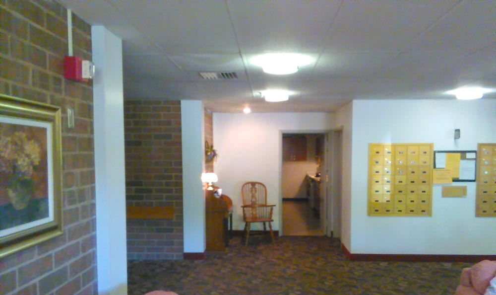 Model living room at Tamarack in MI , Holt