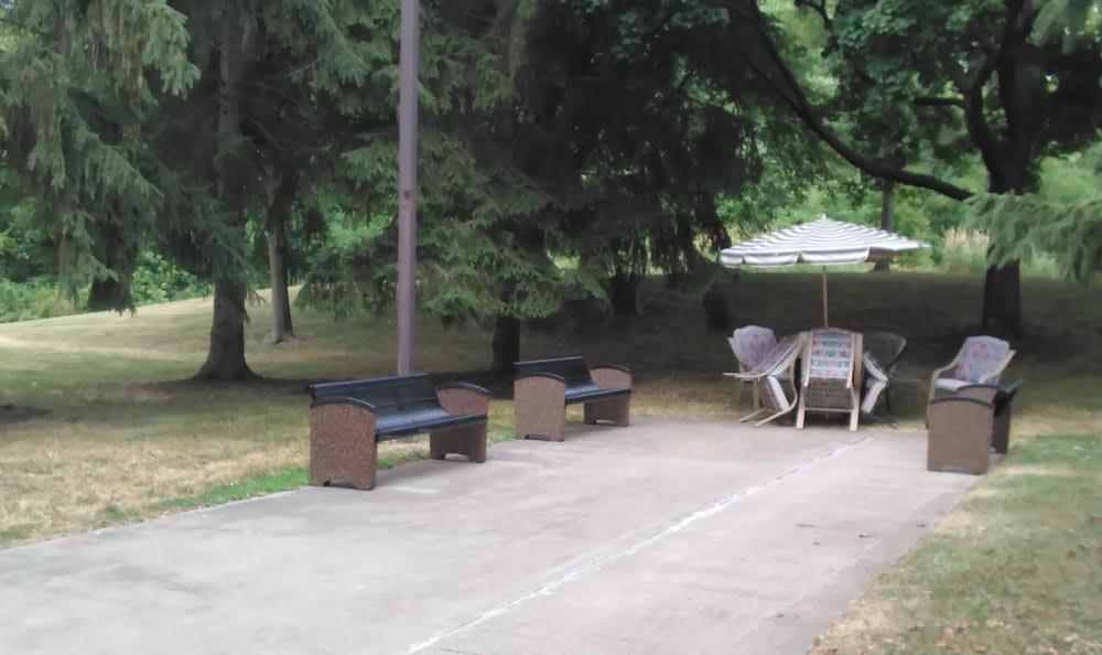 Picnic area at Tamarack in MI , Holt