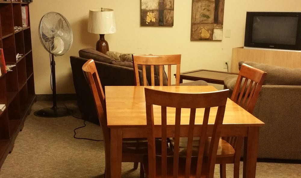 Model dinning room at Meadowlark in Trotwood, OH