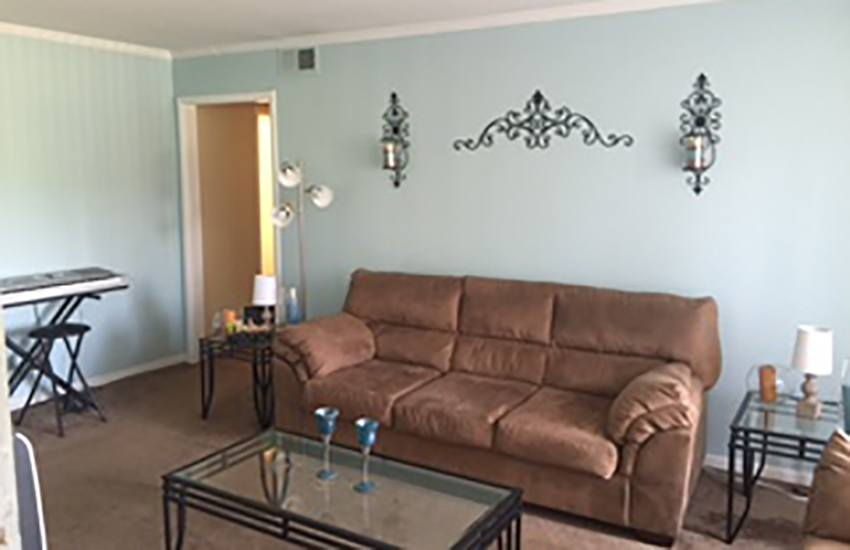 The living room at your new apartment at Southwood Apartments is a wonderful place to relax at the end of the day.