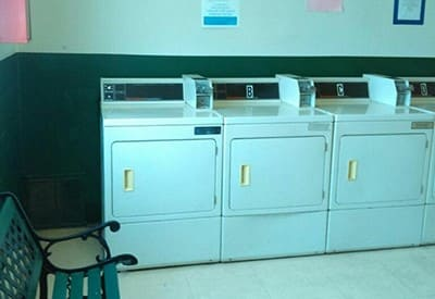 The on-site laundry facility at Pinewood Gardens Apartments will save you time and money!
