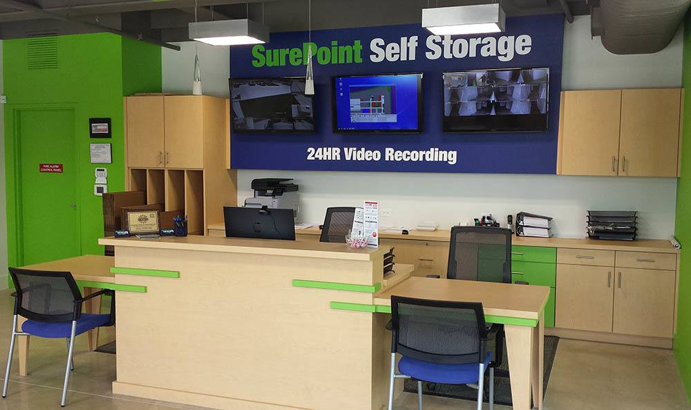 Leasing and security office at SurePoint Self Storage - Shavano