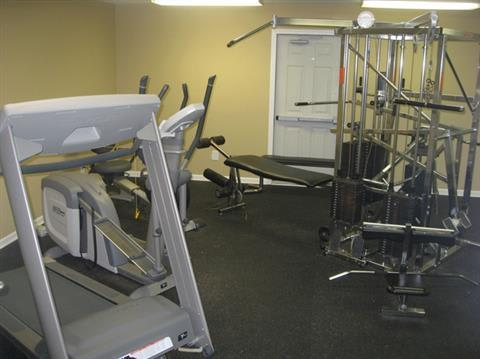 Fitness Center at Lakeside Pointe at Nora in IN.