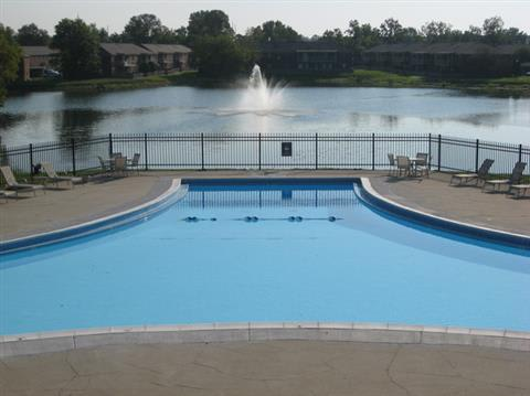 Beautiful pool at Lakeside Pointe at Nora in IN.