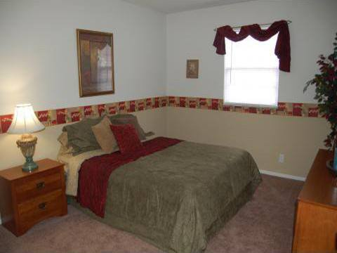 Bedroom at Covington Square Apartments and Townhomes in IN.