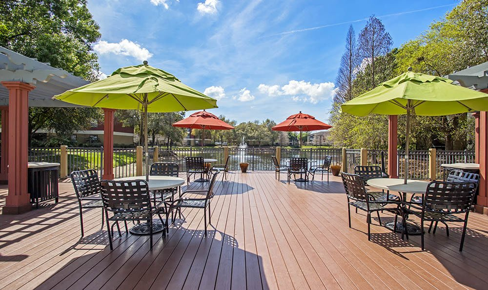 Patio at Sabal Palm at Carrollwood in Tampa,FL