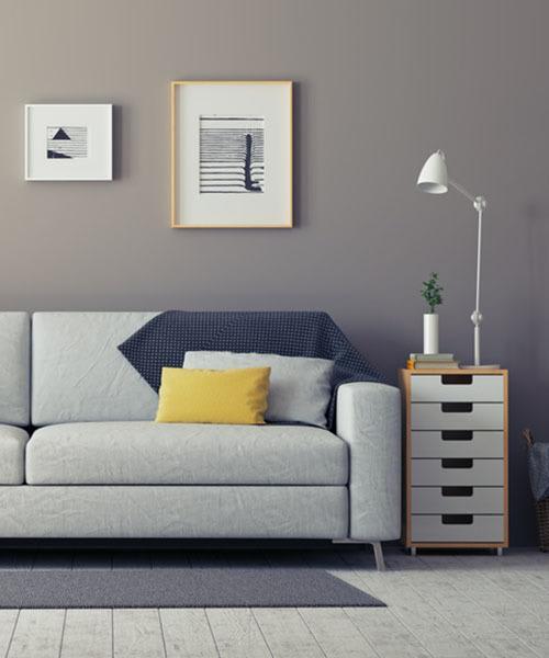 living room at Potomac Square