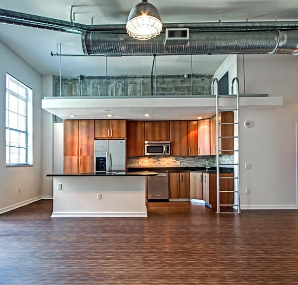 Our floor plans at The Exchange Lofts in Fort Lauderdale are open and spacious, with 14' ceilings!