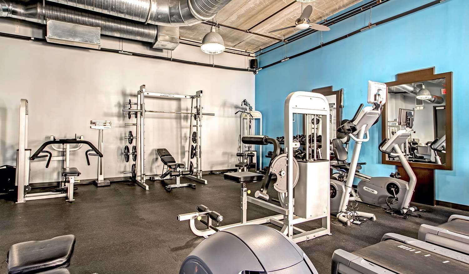 The on-site fitness center is just one of the many perks our residents enjoy here at The Exchange Lofts in Fort Lauderdale, Florida.