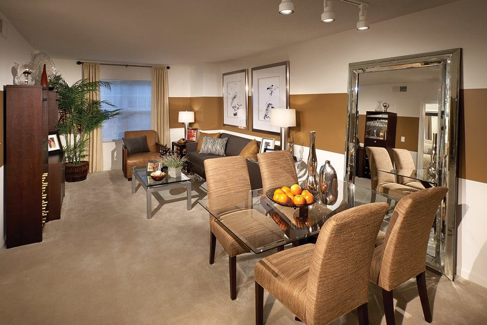 One Bedroom Living and Dining at Inigo's Crossing in North Bethesda MD