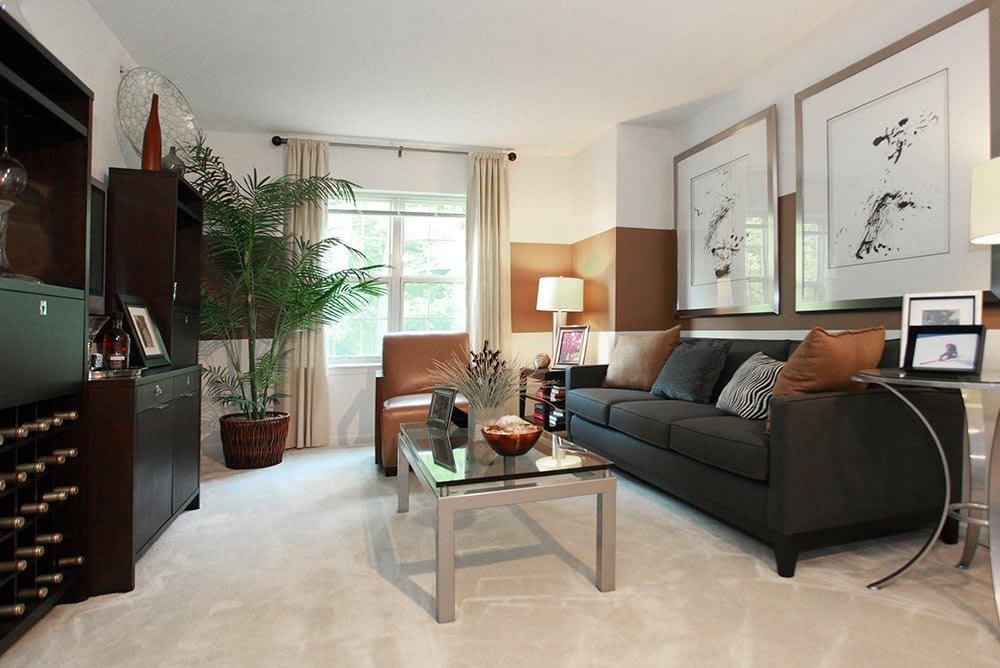 Living Room at Inigo's Crossing in North Bethesda MD